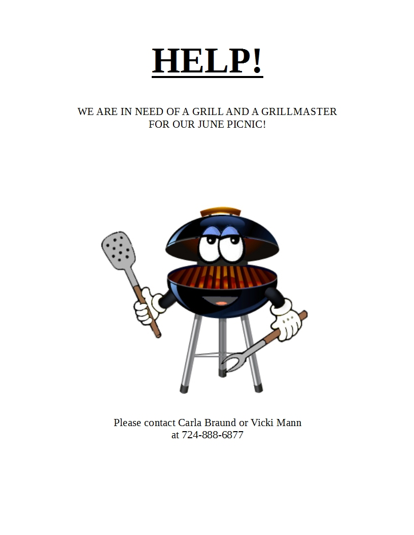 HELP WE NEED A GRILL