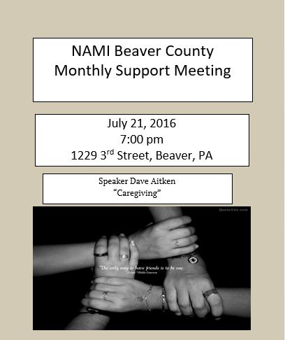 July 2016 support meeting